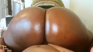 Big Black Butt POV Reverse Cowgirl..