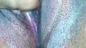 CREAMY PLAYS WITH PHAT WET PUSSY