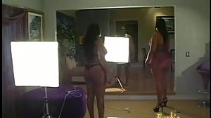 Two lusty ebony BBWs really enjoyed..