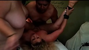 Tied up and fucked by my massage