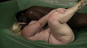 Blonde BBW Interracial
